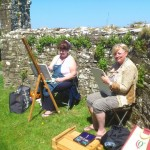 At the painting weekend, Bective